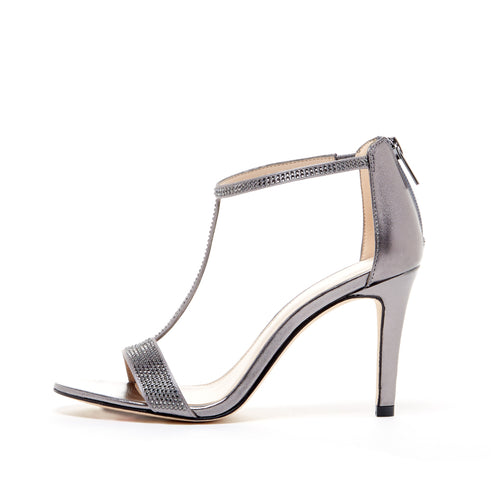 Pelle Moda - Patton - Pewter Metallic Heels