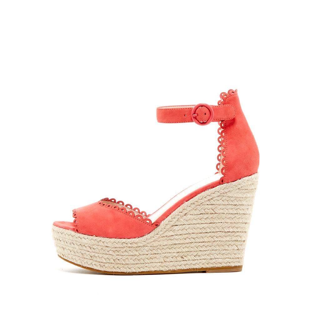 Pelle Moda - Raine - Flamingo Coral Wedges