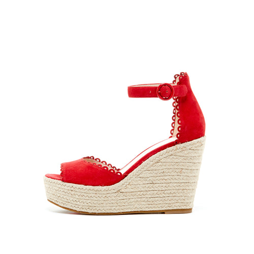 Pelle Moda - Raine - Lipstick Red Wedges