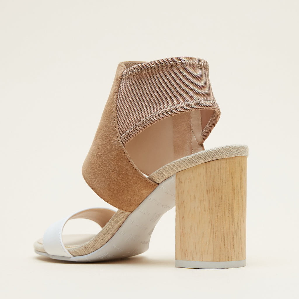 Tana (White /Latte / Calf Leather / Kid Suede) 40% Off