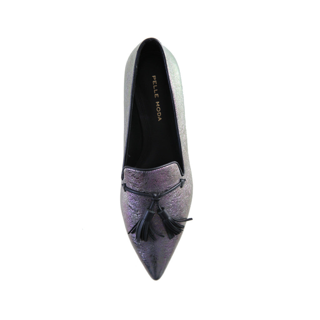 City (Pewter / Iridescent Leather) - Pellemoda.us  - 3