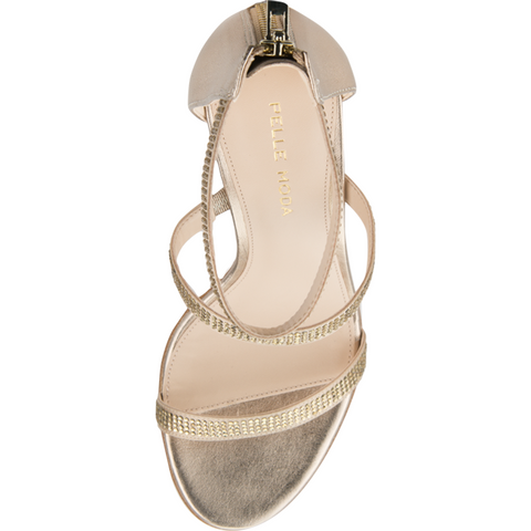 Dalia 2 (Platinum Gold Silk / Metallic Kid Nappa Leather) - 60% Off - Pellemoda.us  - 3