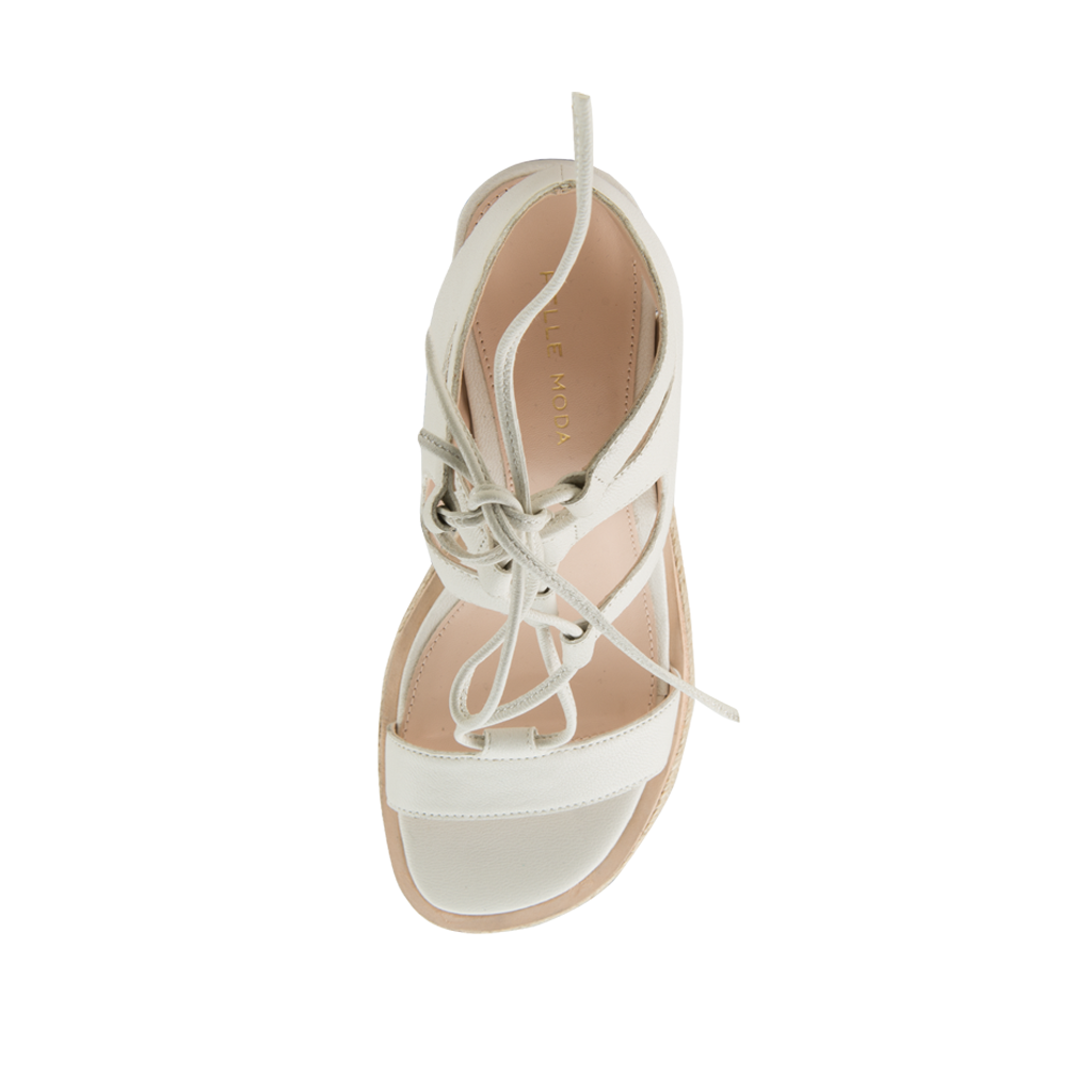 Kyra (White / Tumbled Leather) - 60% Off - Pellemoda.us  - 3