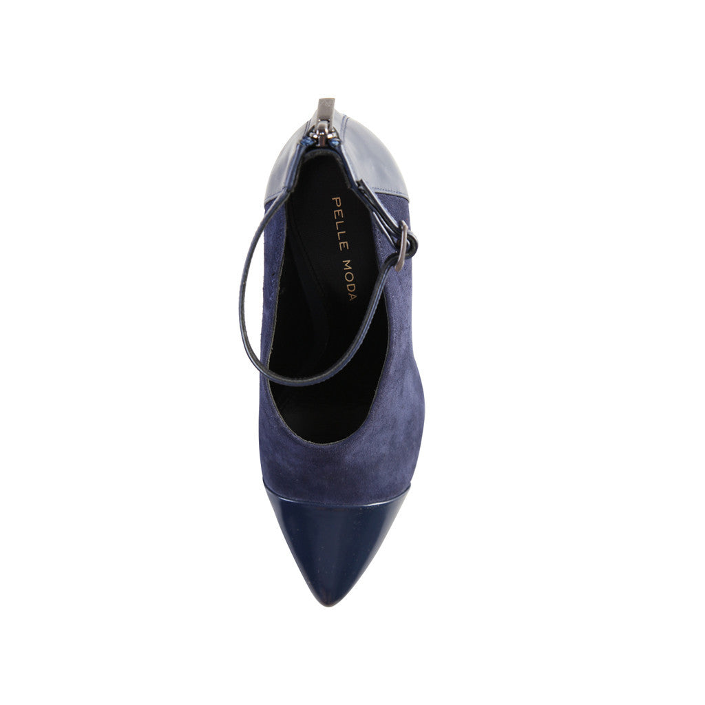 Quion (Navy / Kid Suede / Leather) - Pellemoda.us  - 3