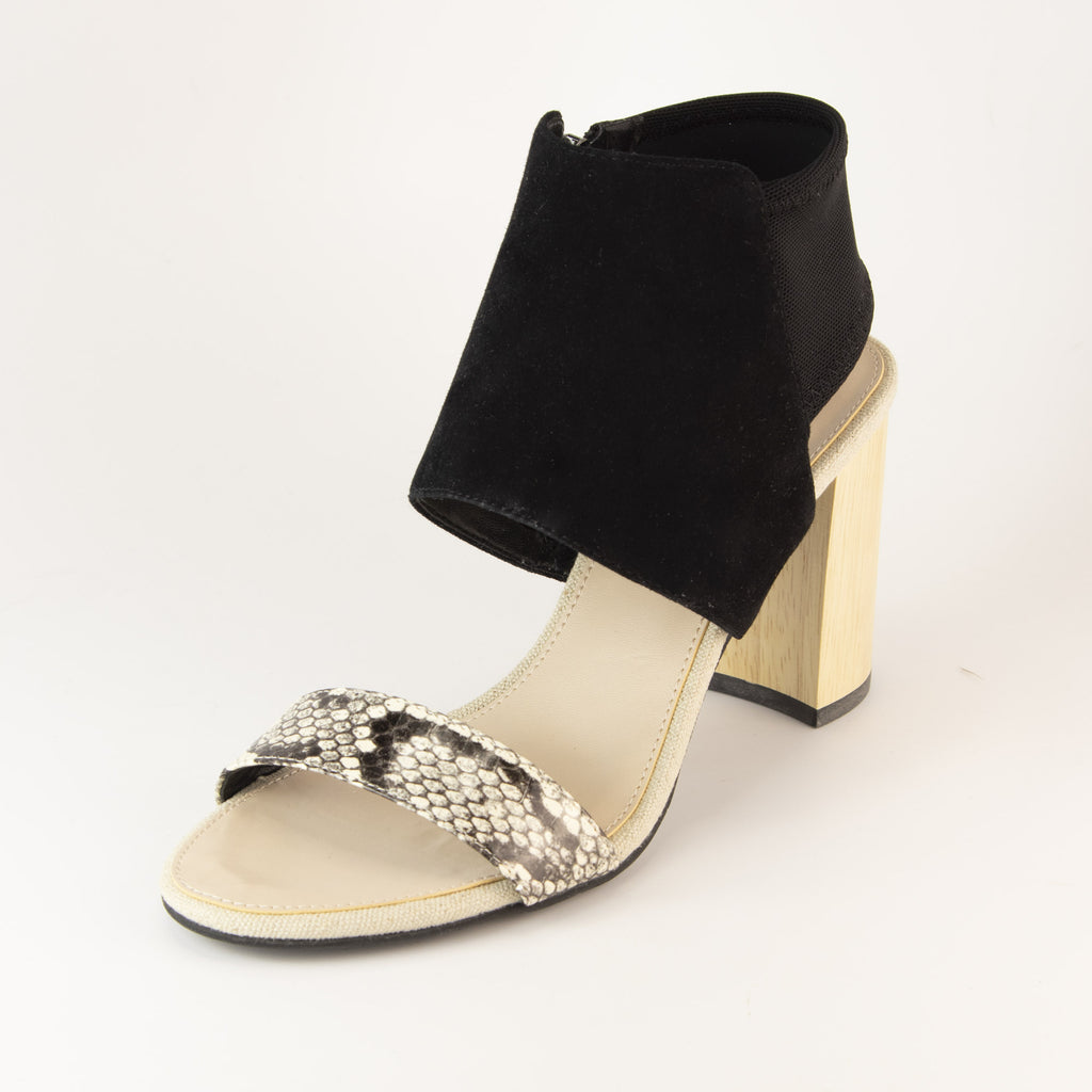 Tana (Black/White / Snake/Kid Suede)