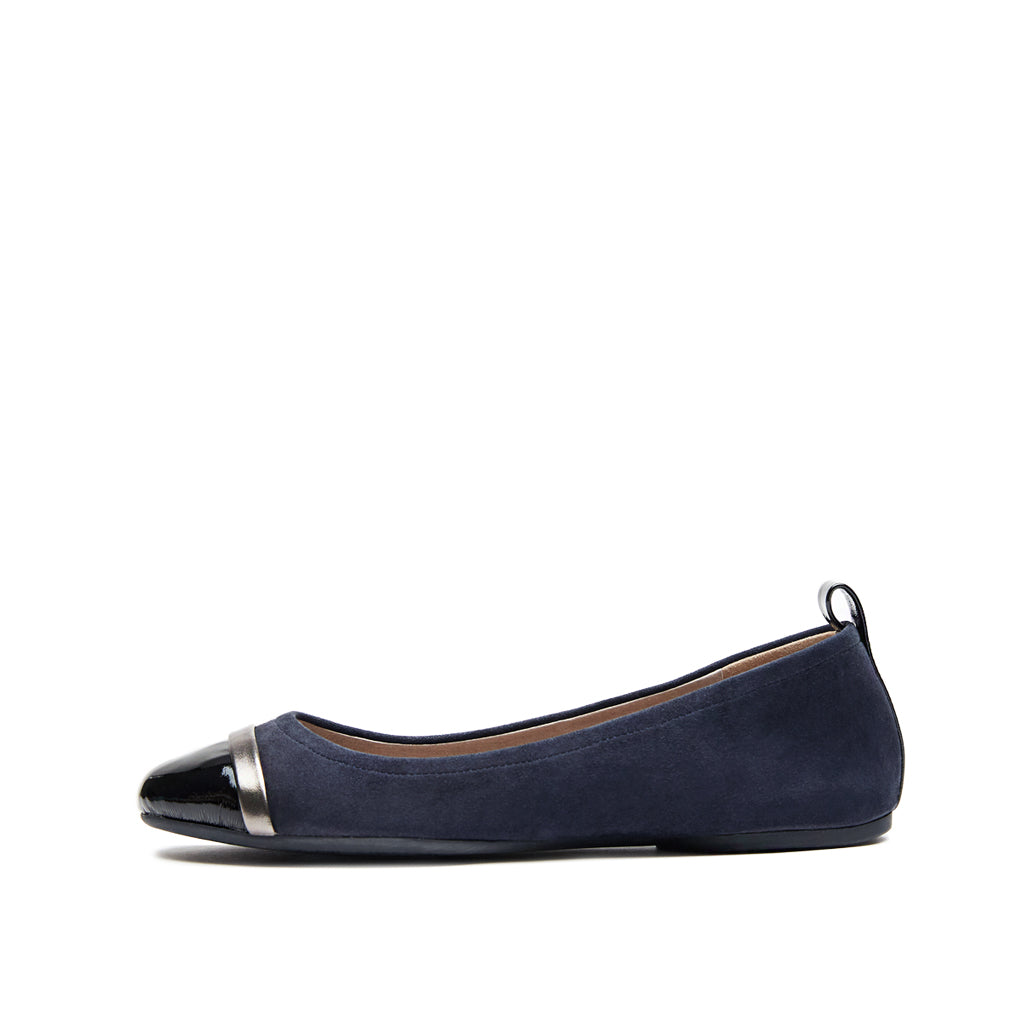 Willis (Midnight Kid Suede/Black Crinkle Patent/ GunMetal Metallic Nappa) 25% Off