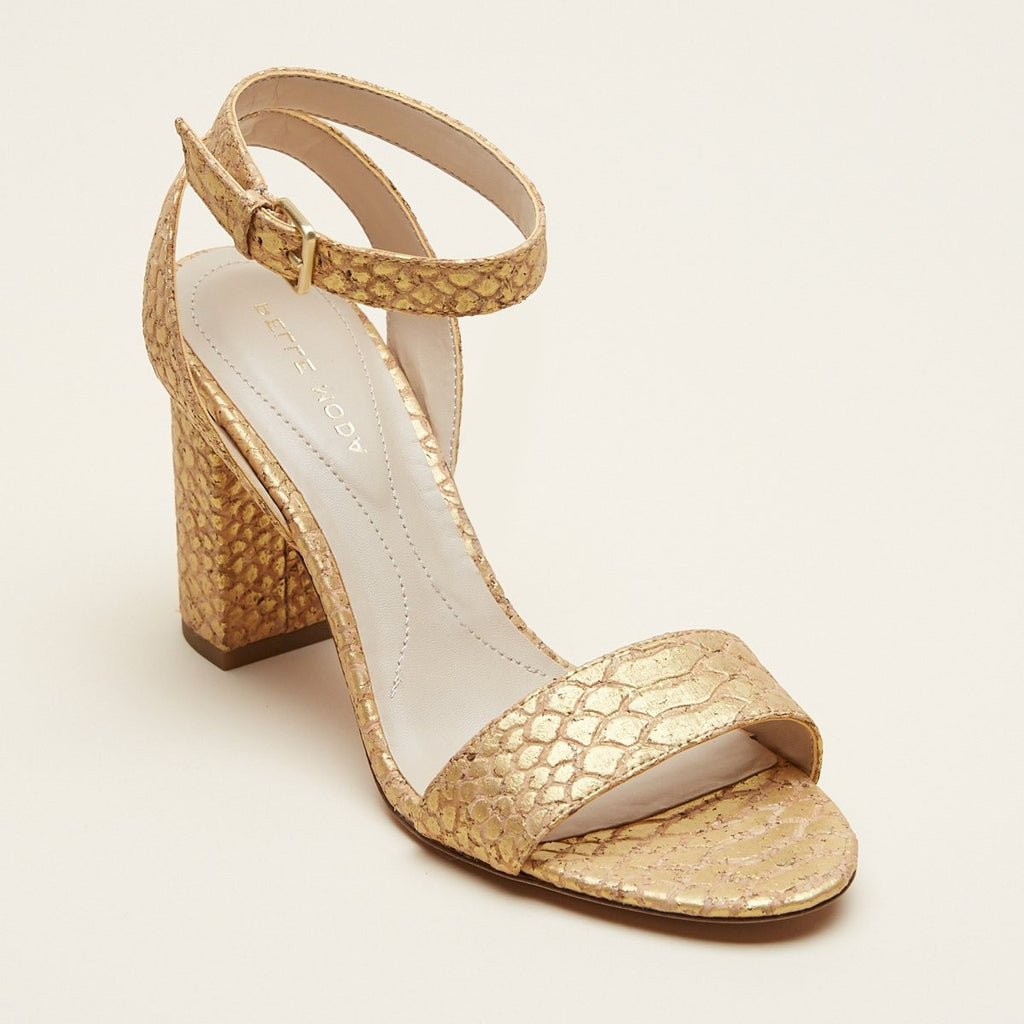 Zia (Gold/ Croc Cork) 40% Off