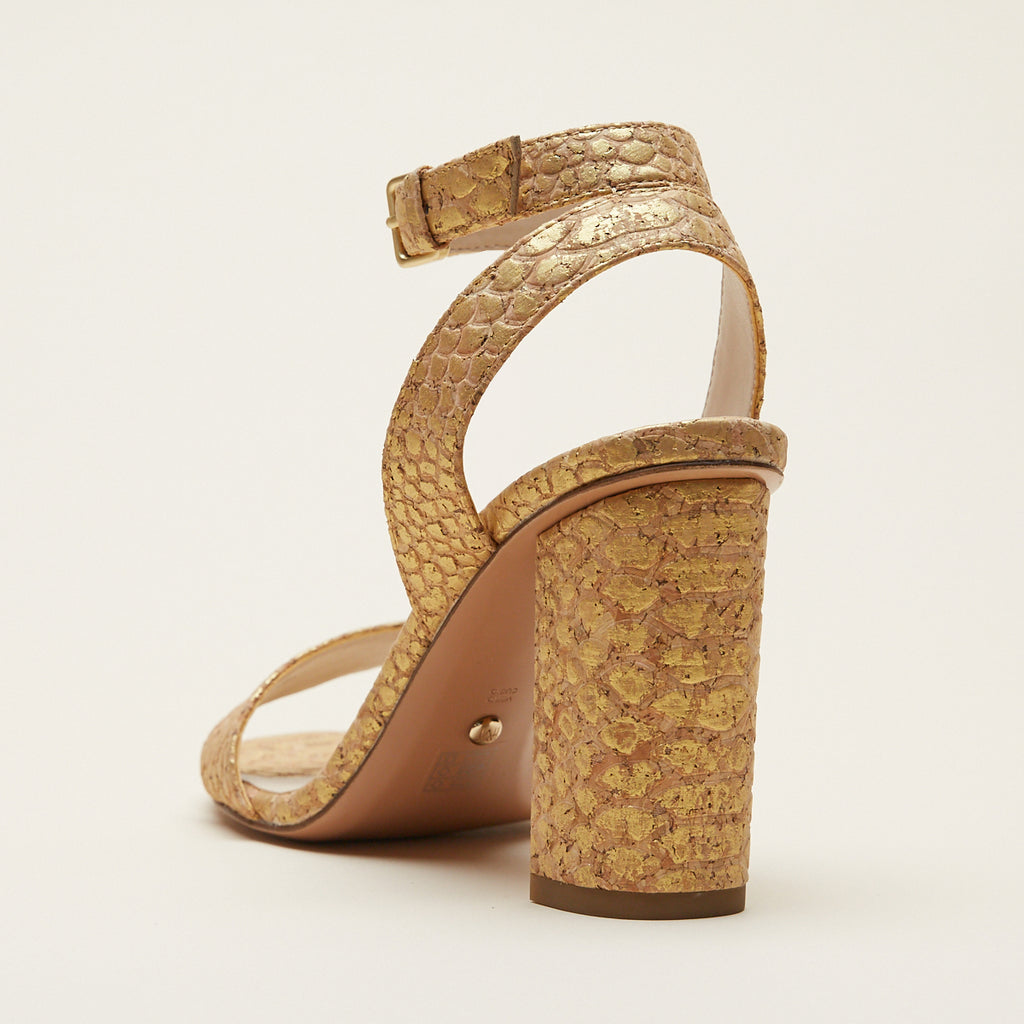 Zia (Gold/ Croc Cork) 30% Off