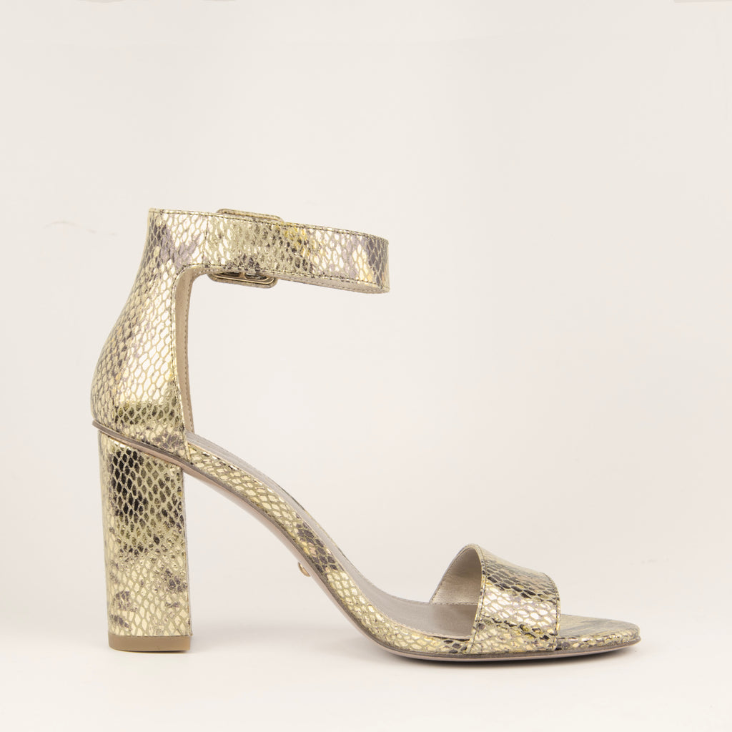 Zoey (Gold Multi / Snake Printed Embossed Leather)