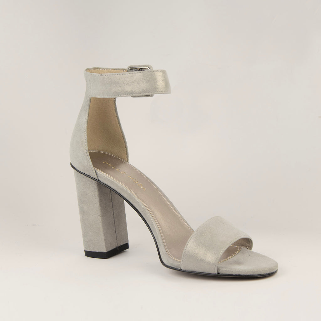Zoey Block Heel - Pewter