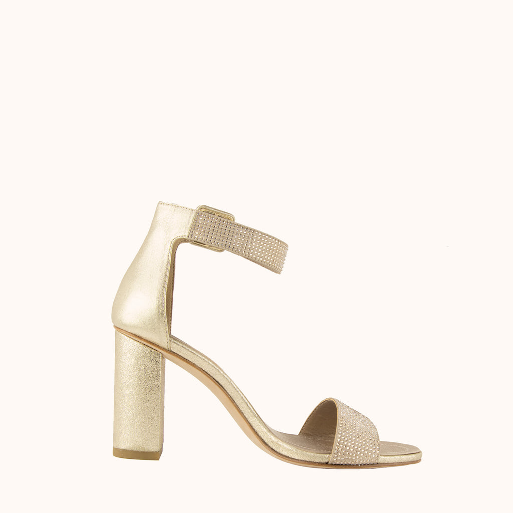 Zoey 2 Block Heel - Gold