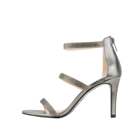 Dalia 2 (Pewter Silk / Metallic Kid Nappa Leather) - 60% Off