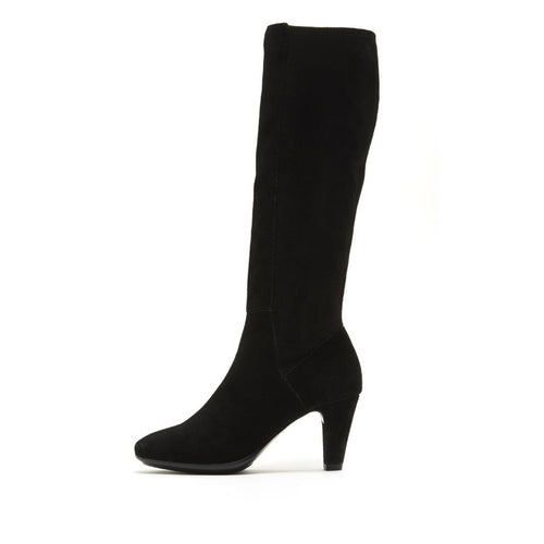 Yuni (Black / Cow Suede/ Stretch Microfiber) - 50% Off - Pellemoda.us  - 1