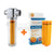 Universal Vitamin Shower Filter + Pack of 3 Vitamin Shower Longer Lasting Filter Cartridges