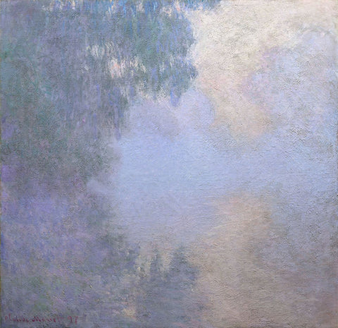 "Branch of the Seine near Giverny (Mist), from the series ""Mornings on the Seine"" - entrexiglos"