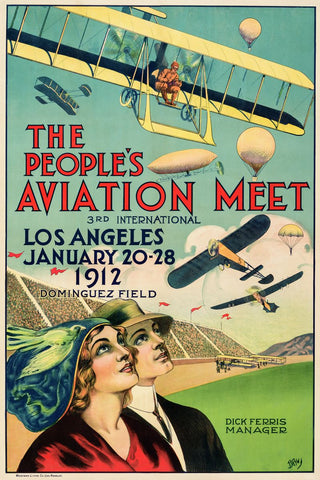 The Peoples Aviation Meet - Oscar M Bryn 1912 - LACMA - entrexiglos