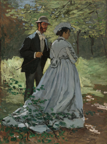 "Claude Monet - Bazille and Camille (Study for ""Déjeuner sur l'Herbe"") - entrexiglos"