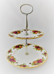 Royal Albert Old Country Roses -Pastel Soporte 2 Niveles - entrexiglos