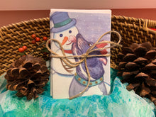 "Load image into Gallery viewer, Holiday Cards ""Elroy and his Snowman"" 3x5 in. folded cards"