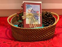 "Load image into Gallery viewer, Holiday Cards- ""Elroy and his Snow Man"" 5x7 in. folded cards"