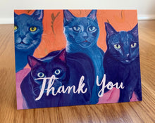 Load image into Gallery viewer, Thank You cards (cat edition)