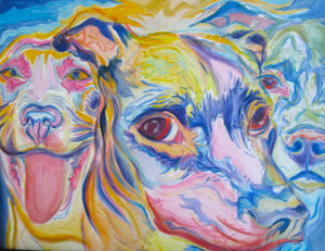 """Faces of the Shelter"" giclee print made from an original painting"
