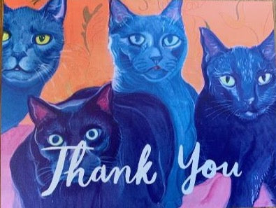 Thank You cards (cat edition)