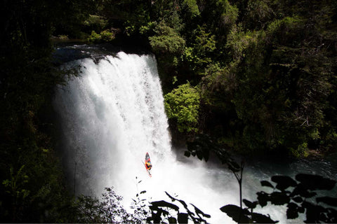 Bren Chile Waterfall Kayak