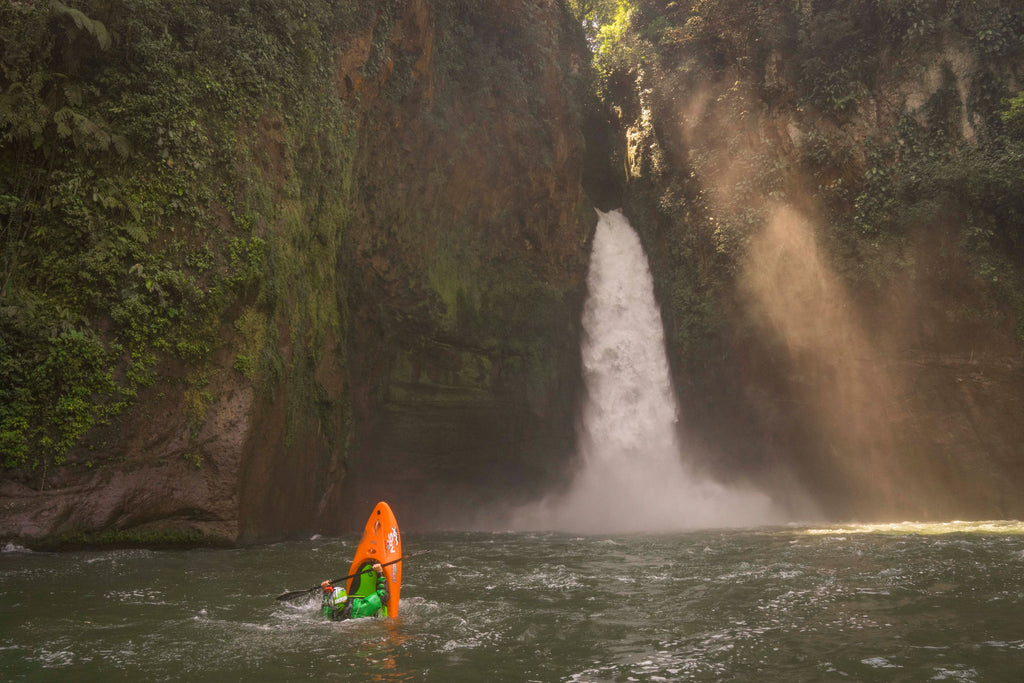 Nick Troutman Tail Squirt below Big Banana falls Mexico
