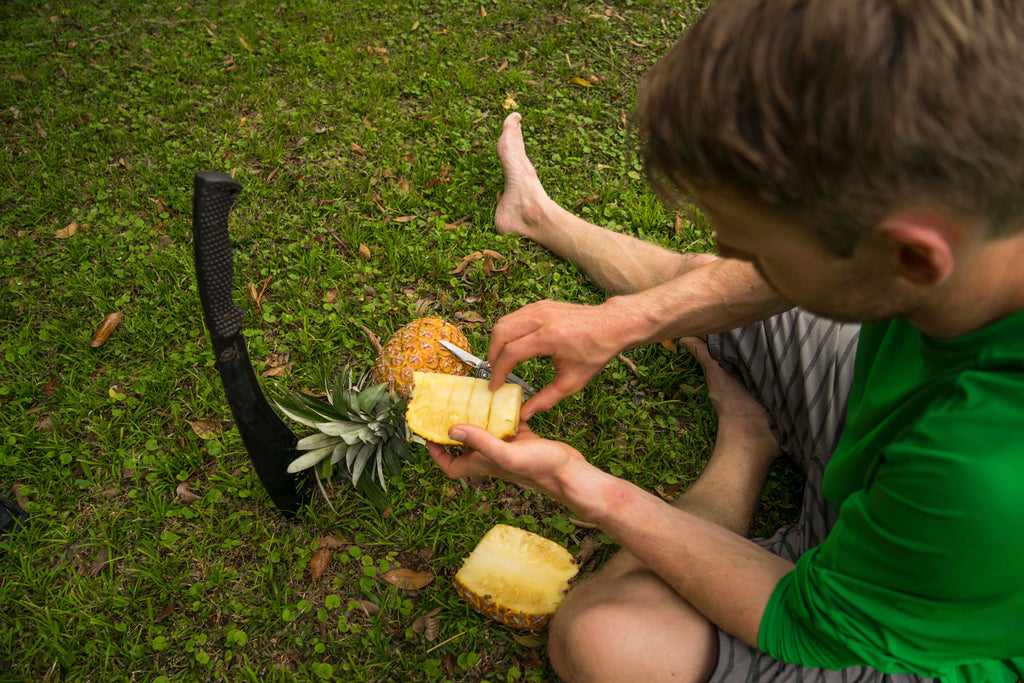 Nick Troutman Chopping Pinapples In Mexico