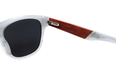 dewerstone Bantham - Wood & Acetate Polarized Sunglasses - Smoke