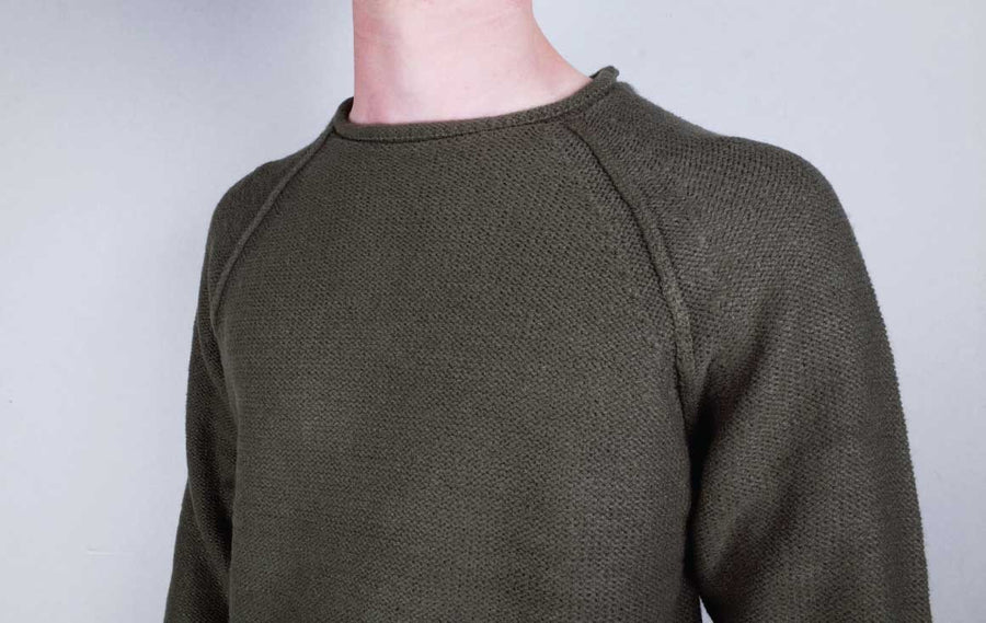 dewerstone Dress Small Knitted Sweatshirt - Olive
