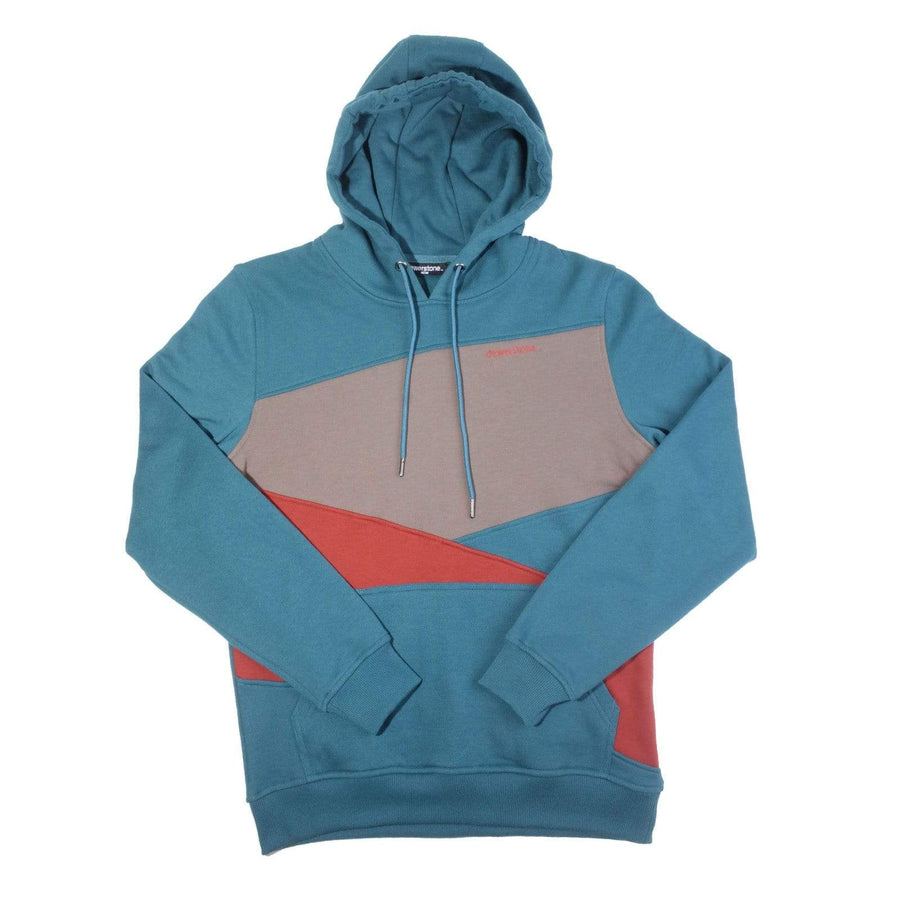 Three Panel Pullover Hoody - Teal Green