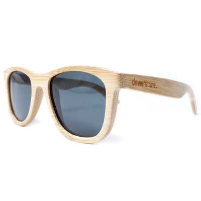 dewerstone Wooden Sunglasses Natural Bamboo - Grey Cirros Bamboo Sunglasses - Polarized