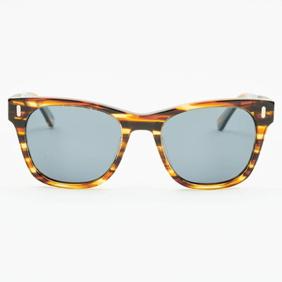 dewerstone Wooden Sunglasses Perren - Wood & Acetate Polarized Sunglasses - Brown Marble