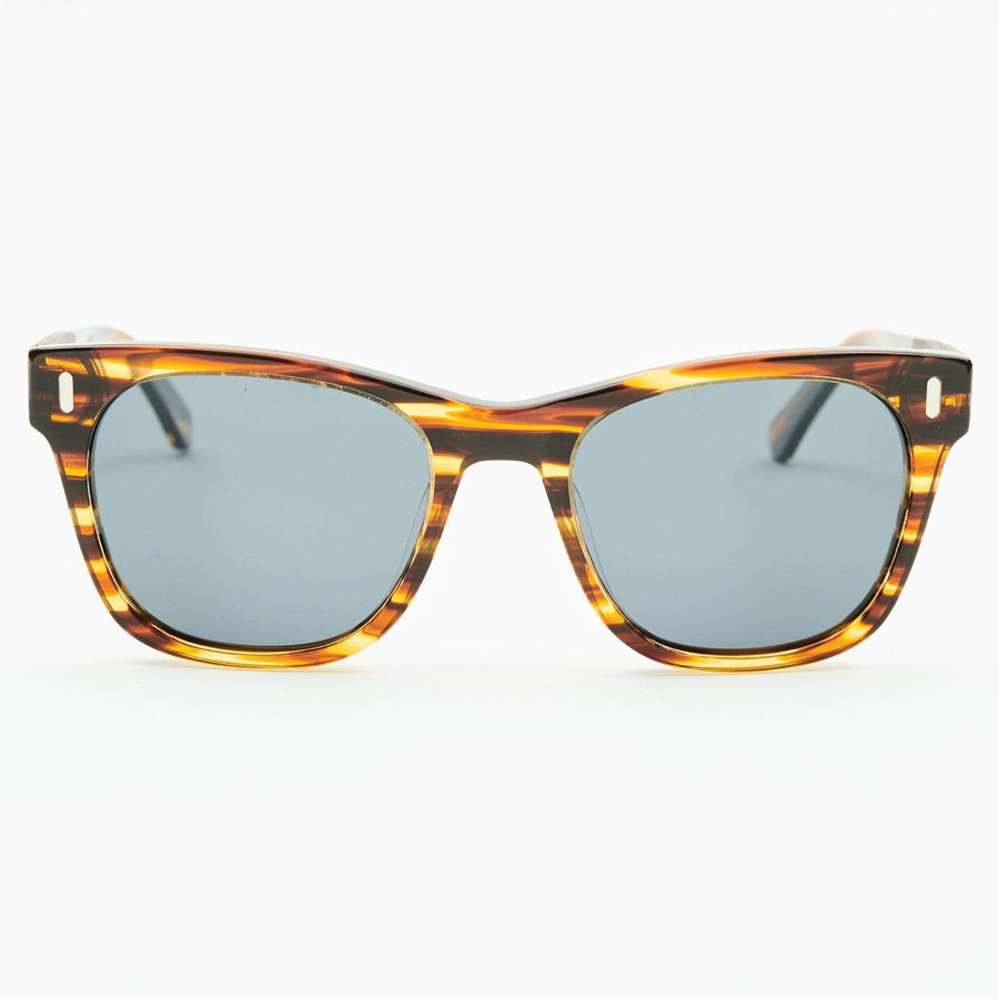 Perren - Wood & Acetate Polarized Sunglasses - Brown Marble