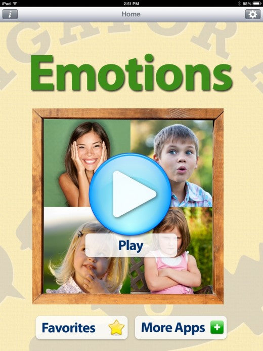Emotion App Flashcard for Children with Autism