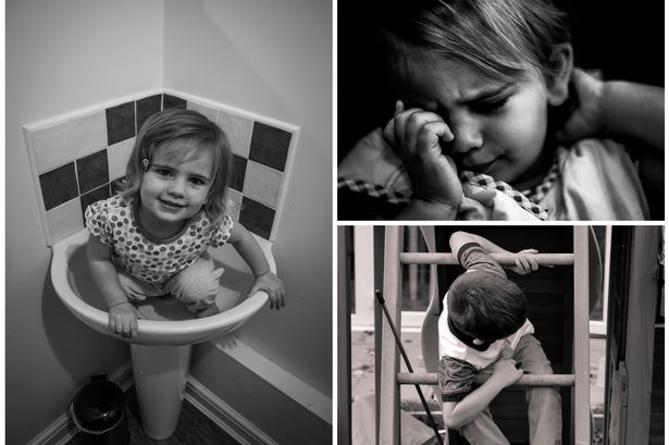 black and white photographs of every day autistic children