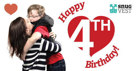 Happy 4th Birthday to Snug Vest: Helping people with Autism & Sensory Disorders since 2011