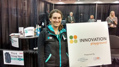 Monica representing Snug Vest at the Innovational Playground