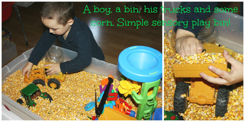 Individual with autism plays with a sand sensory bin