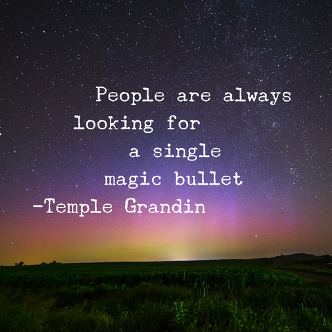 people are always looking for a single magic bullet quote by temple grandin