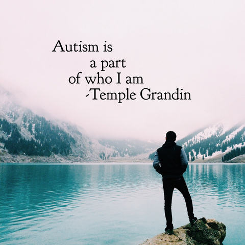 Autism is a part of who I am quote by Temple Grandin