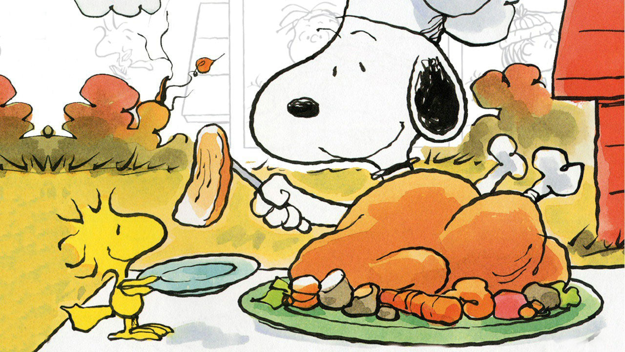 Snoopy having thanksgiving with autism