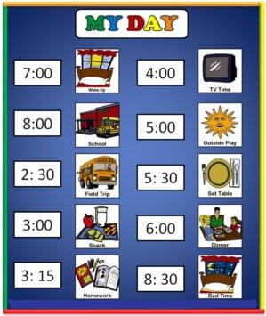Thanksgiving schedule for autism