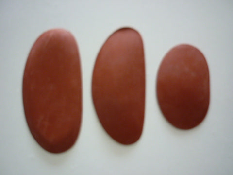Kidney Rubber Brown Set of 3