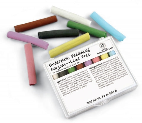 Crayon Sets AM208 Turquoise, Yellow, Rose, Dark Blue, Dark Green, Black