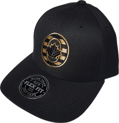 Black And Metallic Gold Caps