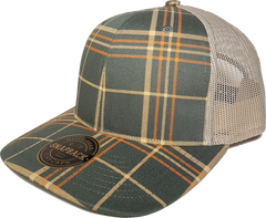 Plaid Printed Trucker