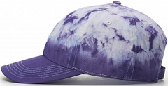 Hand Dipped Tie Dye Dad Hat Side